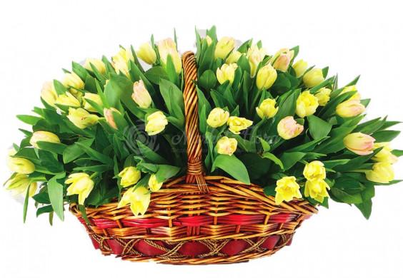 Корзина цветов «Весенняя свежесть»